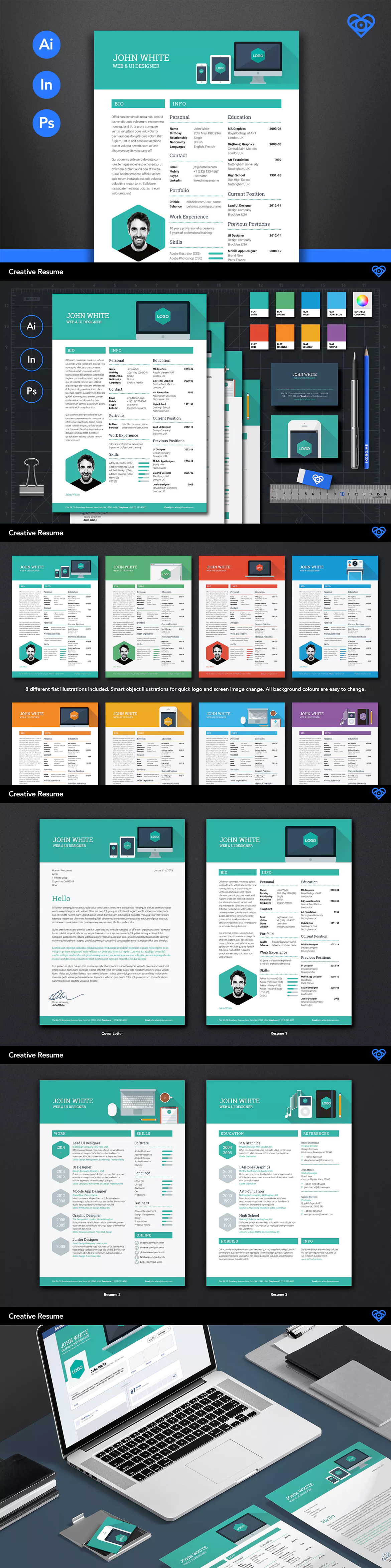 Creative resume by ikonome on envato elements creative