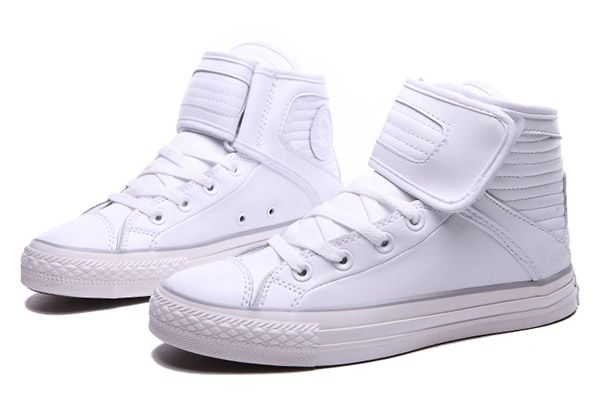 49d70dfebf15 2016 New Warm Pure White Converse Big Tongue Velcro Leather CT All Star  High Tops Winters Boots  S510901  -  60.00   Special Converse All Star High  Tops ...