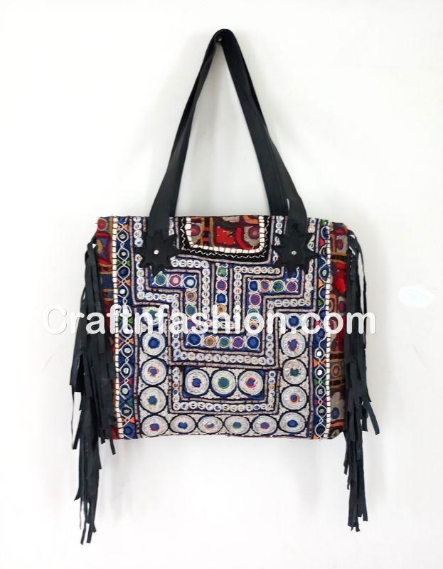 3e58e9ab0b Gypsy banjara leather fringe tote bags- Genuine Banjara leather fringe  handbag-