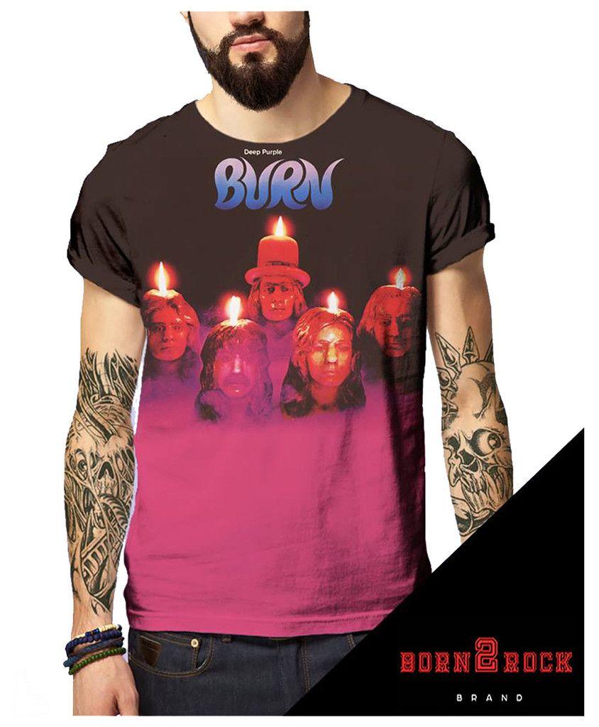 748be2db6d3 Born2Rock - BURN DEEP PURPLE - Mens T-Shirt