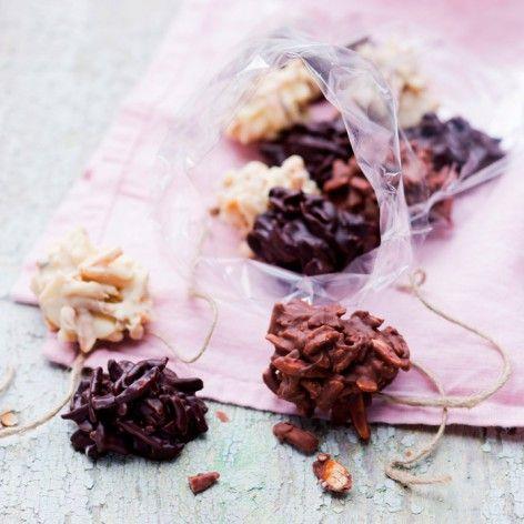 La recette des rochers aux 3 chocolats