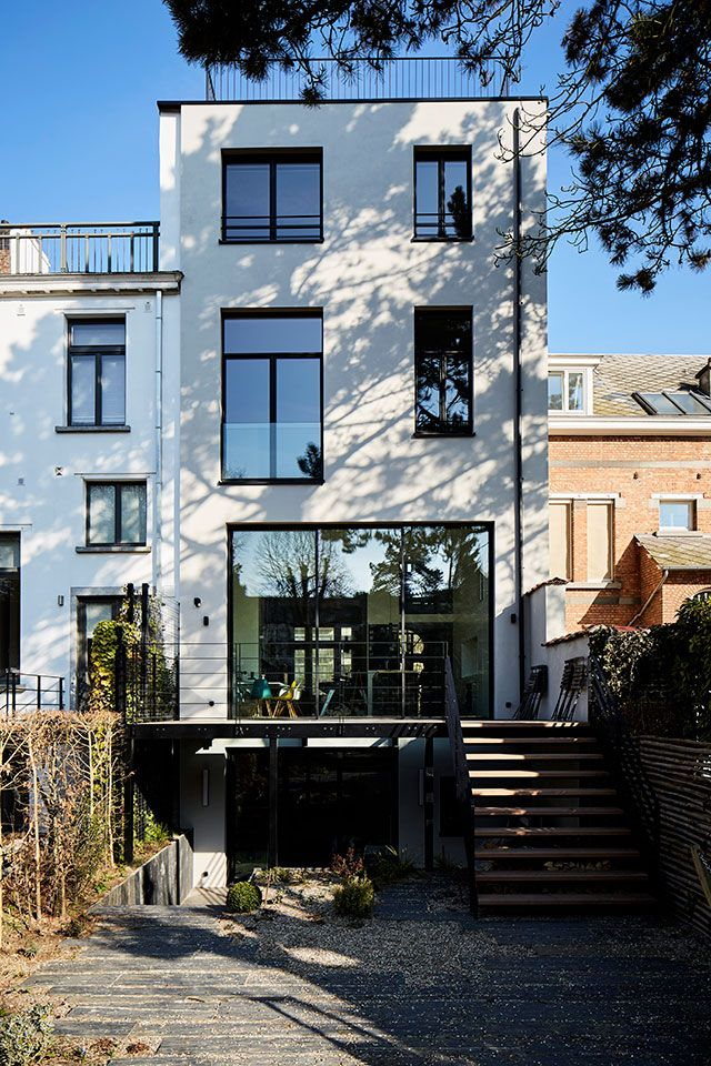 East williamsburg rowhouse  wood frame row house in design and plan ideas pinterest townhouse also rh