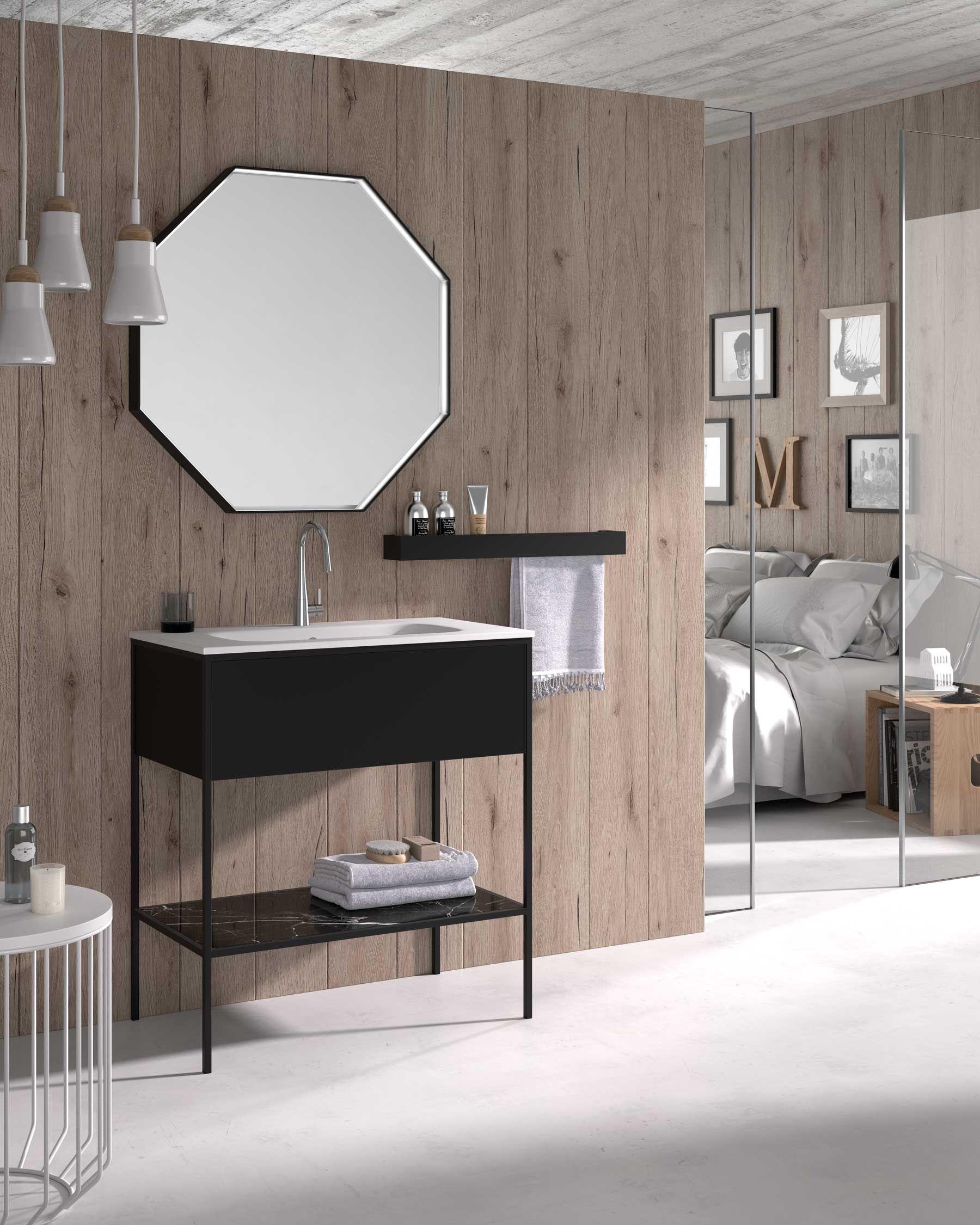 Muebles de baño de estilo industrial con estructuras de ...
