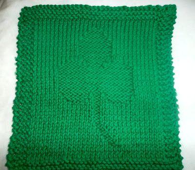 The Chickadee Tree Pattern Shamrock Dishcloth Knit Crochet