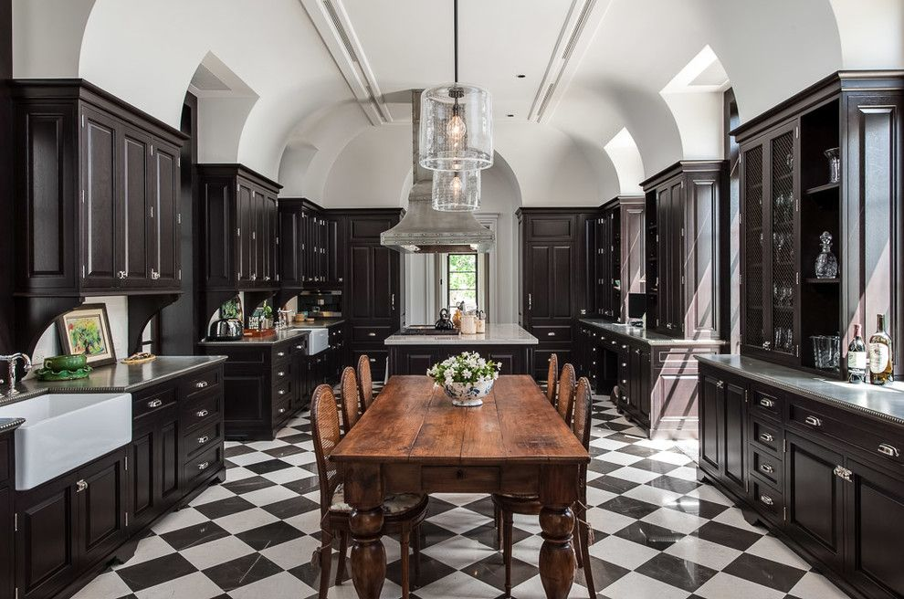 Wood Flooring Miami Kitchen Traditional With Farmhouse Sink Black