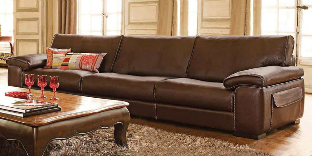 Leather Sofa 4 Seater Homeland Furniture In 2019 Best
