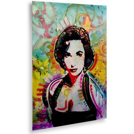 Trademark Fine Art Liz Canvas Art by Dean Russo, Floating Brushed Aluminum, Multicolor