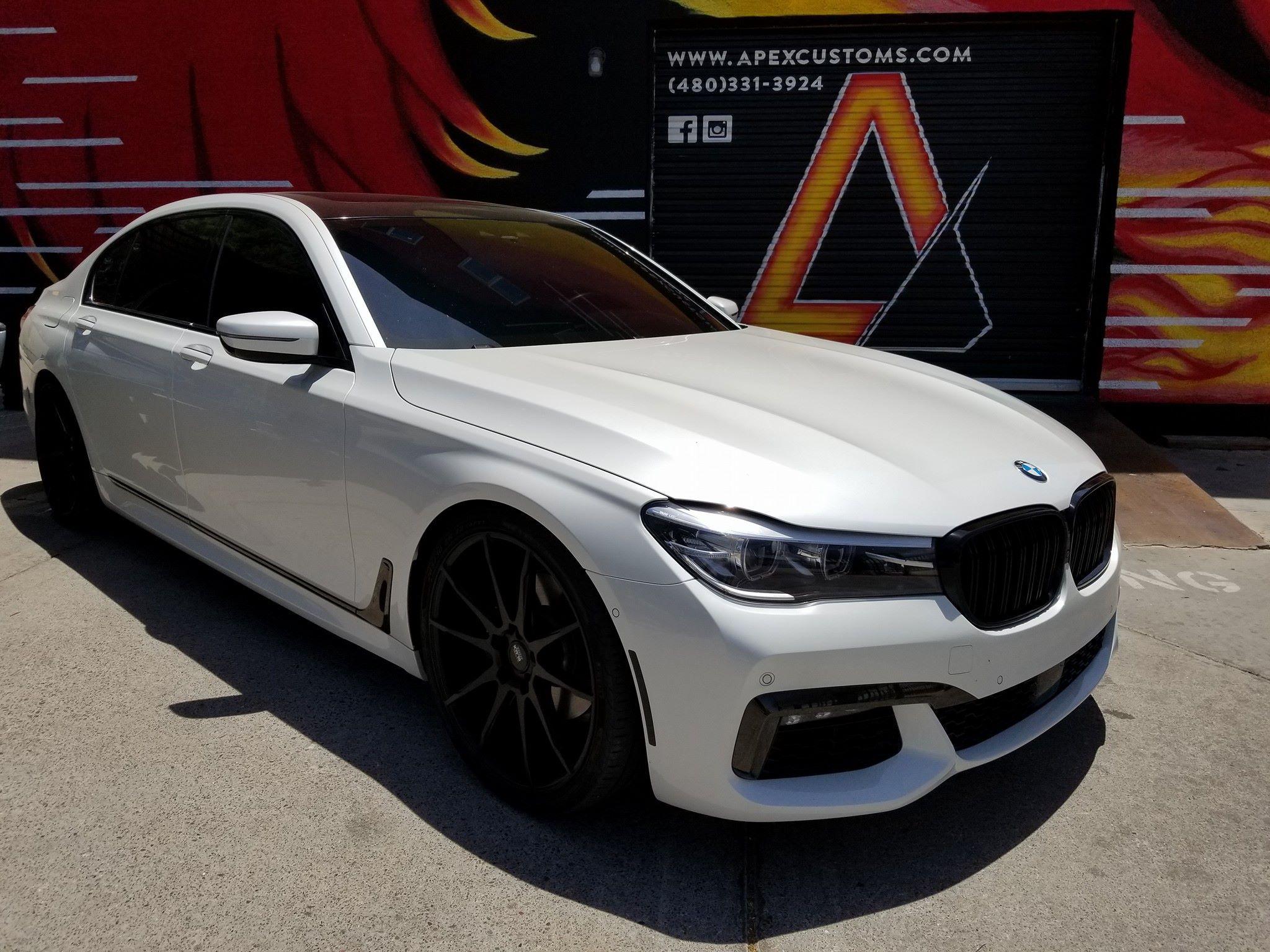 2016 BMW 7 Series Ghost Link Lowering Kit Installed Drops