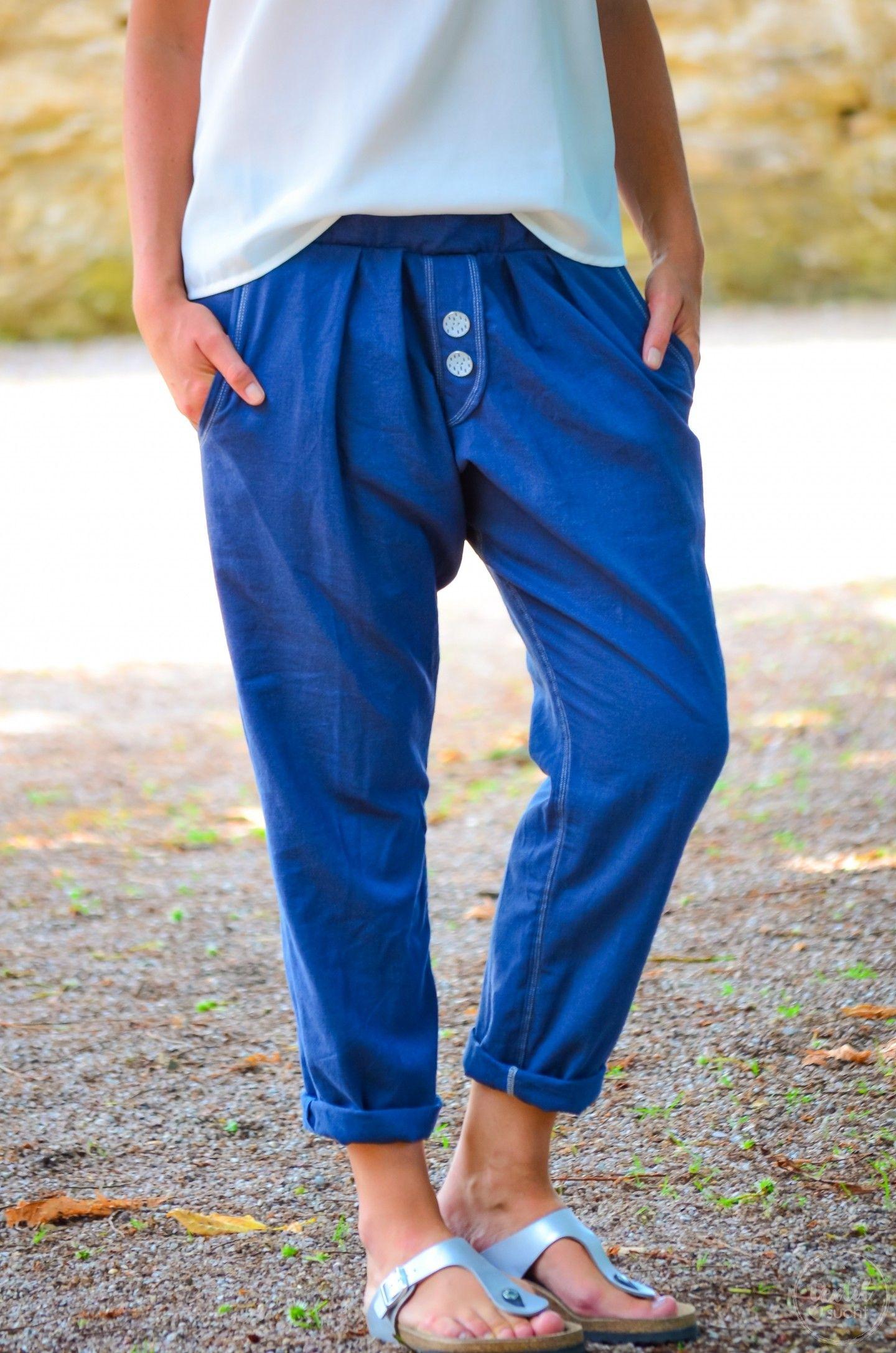 Nähen für den Sommer: Lässige Hose aus Leinen