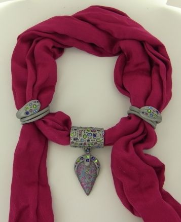 premo! Accents Scarf Jewelry Tutorial by Jennifer Bezingue