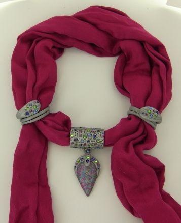 premo! Accents Scarf Jewelry Tutorial by Jennifer Bezingue