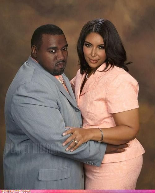 What If Kanye West And Kim Kardashian Were Regular People Celebrities Funny Funny Celebrity Pics Kanye West And Kim