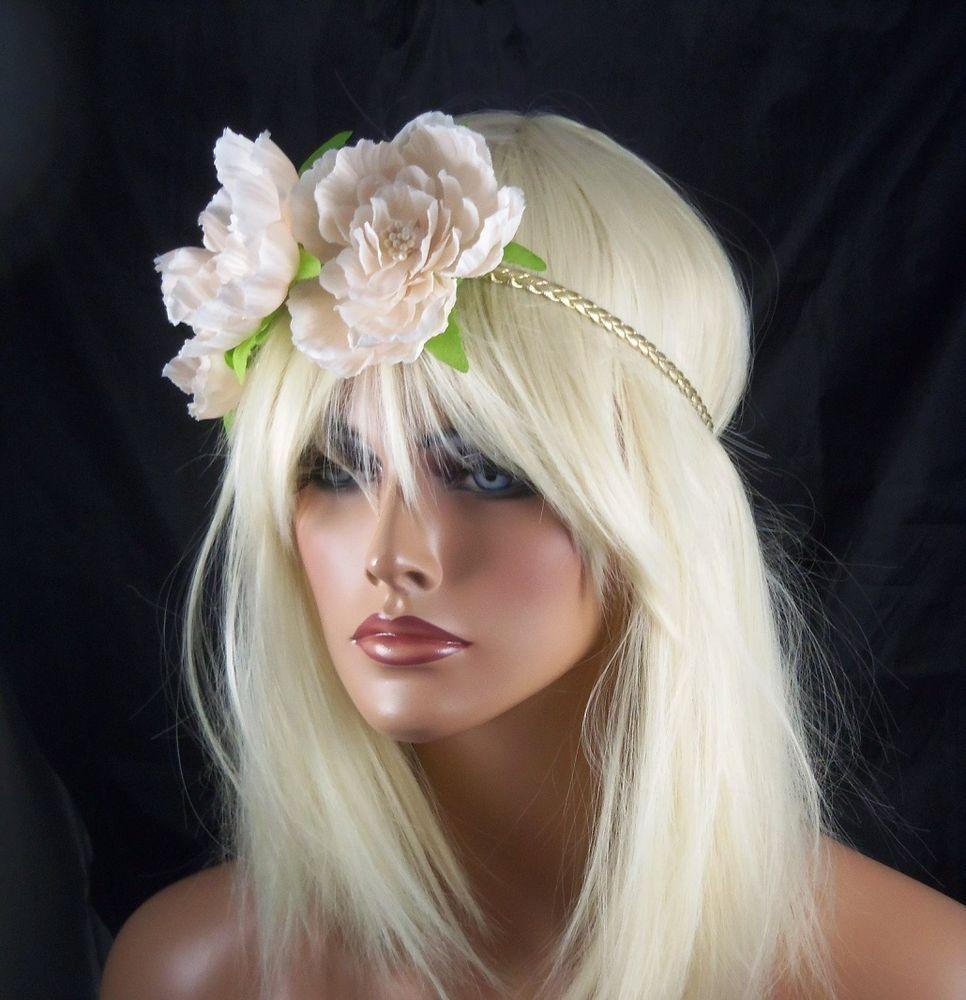 Festival Flower Floral Crown Elastic Headpiece Headband Bohemian