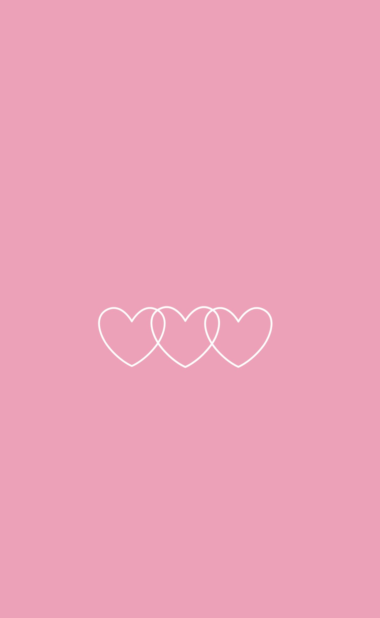 Pink background white hearts in 2019 Cute pink