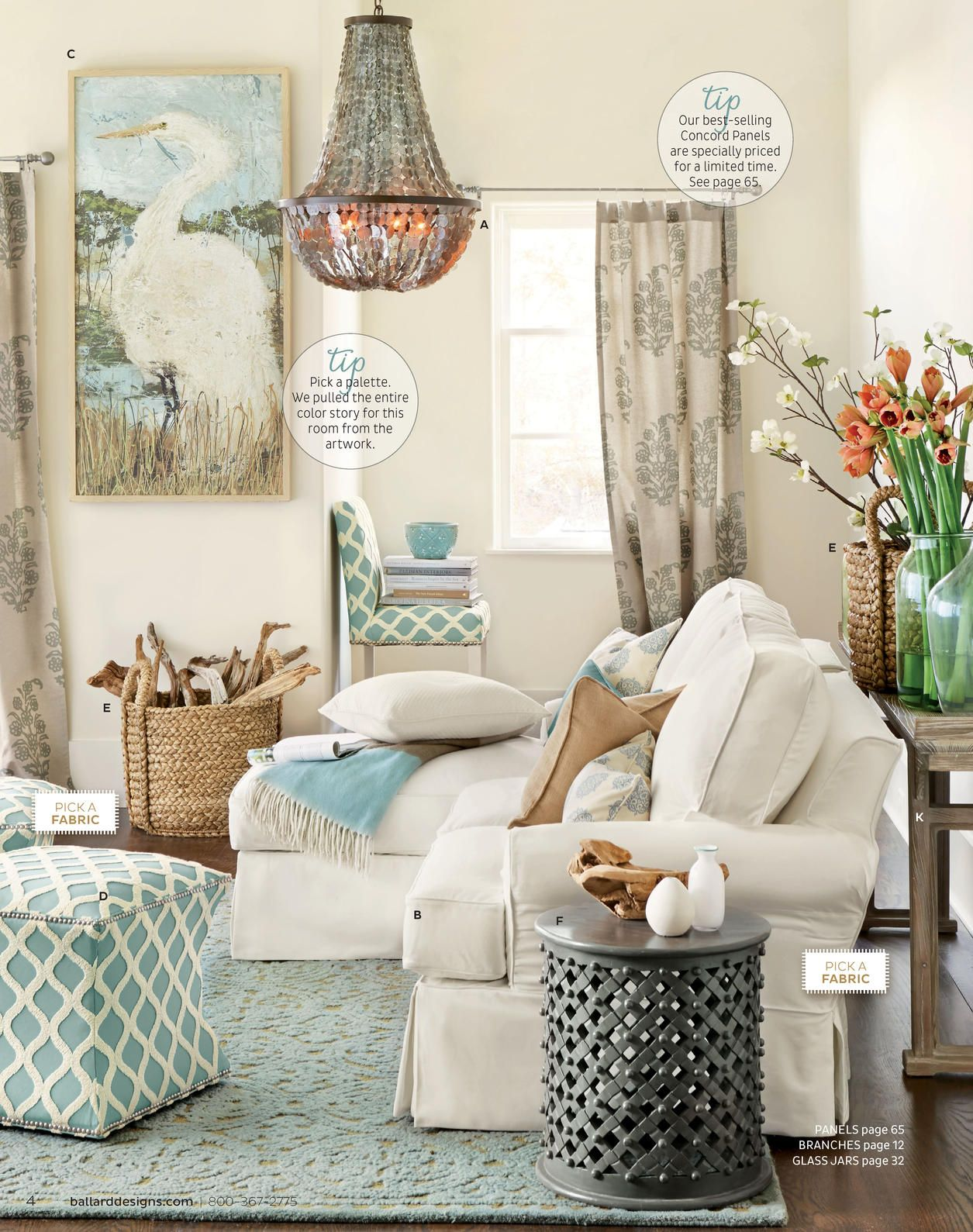 Light blue, grey, and tan...love this color scheme!! | Living Space ...