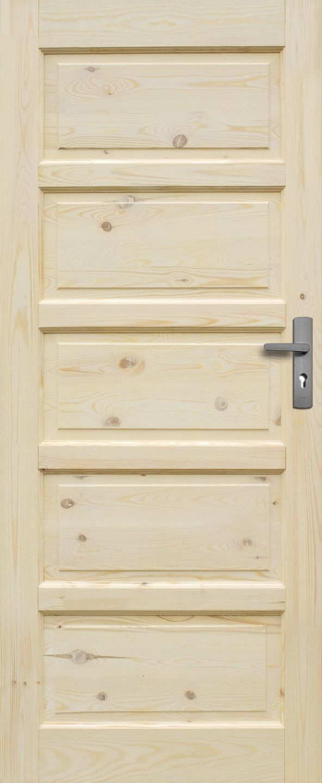 Wooden doors Iława 80L full – raw pine