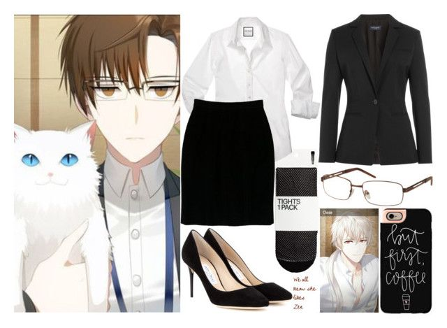 """Jaehee /// Mystic Messenger"" by moonlight-princess-of-the-stars ❤ liked on Polyvore featuring Piazza Sempione, Chanel, Jimmy Choo and Casetify"