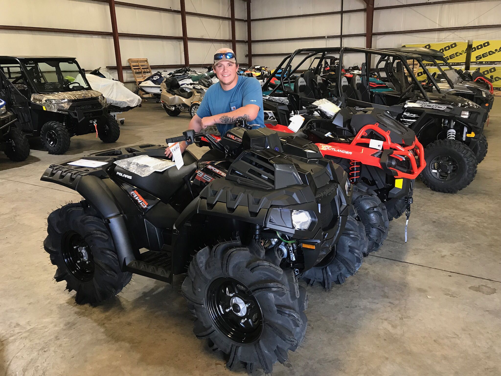 new product a0d7f 5cdfa Congratulations to Matt Henry for purchasing a 2018 Polaris Sportsman Highlifter  850 at Hattiesburg Cycles.  polaris