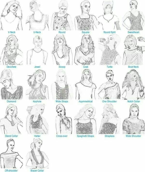 Different Bodice Types Fashion Vocabulary Fashion Terms Fashion Terminology