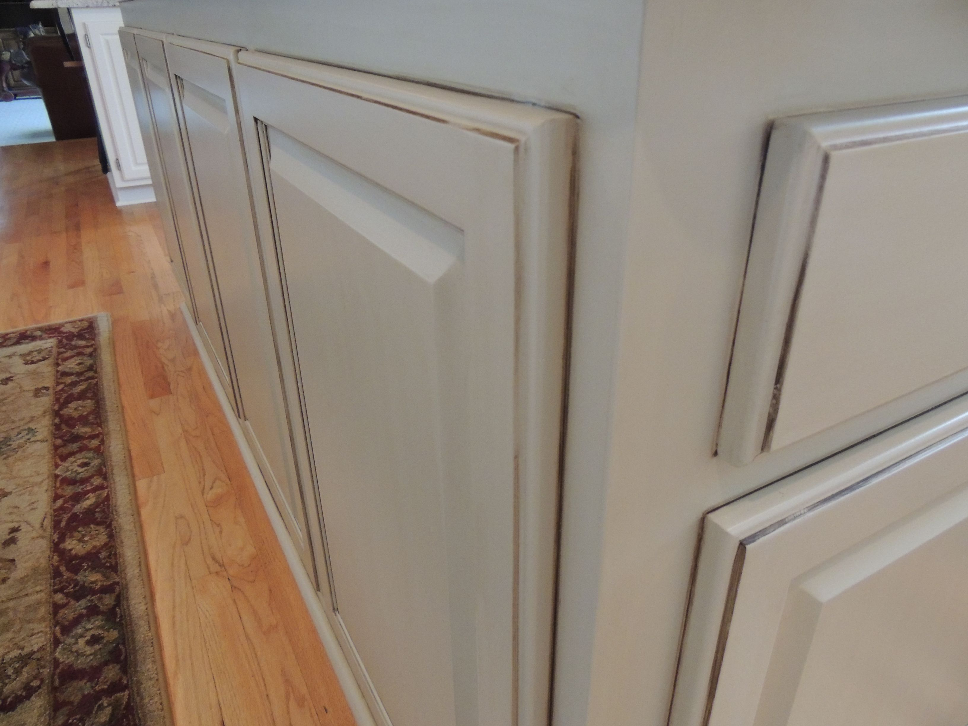 Close Up Picture Of A Kitchen Island With White Enamel And A Medium Level Glaze Finish Kitchen Transformation Home Kitchens White Enamel