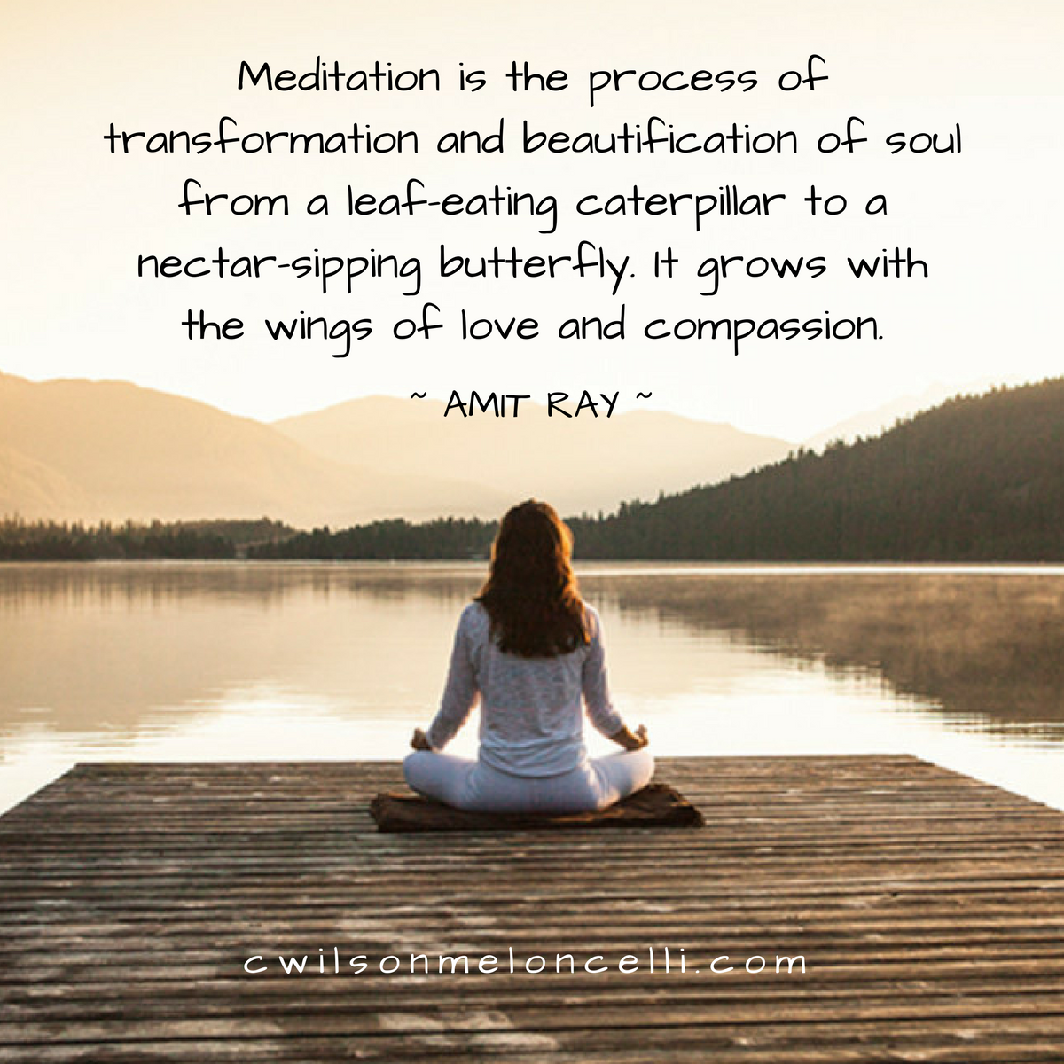 Meditation is the process of transformation and