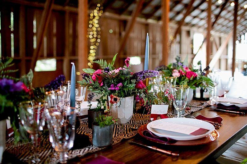 glam rustic barn wedding