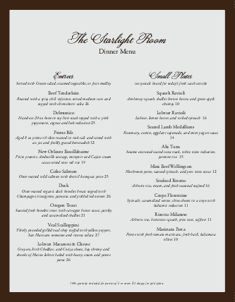 View Formal Dinner Menu Template Letter Learning Is Fun Menu