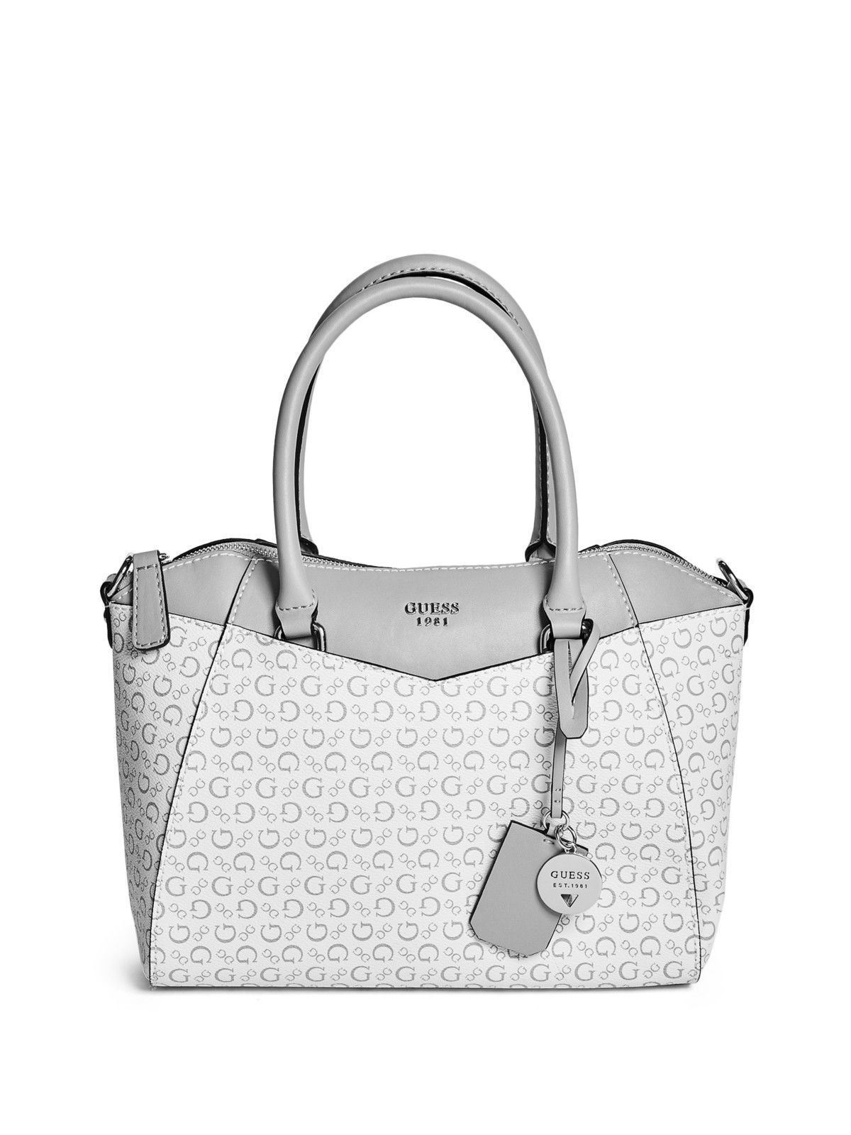 33df3341400 GUESS Factory Womens Birch Logo Satchel   Guess   Pinterest   Guess ...