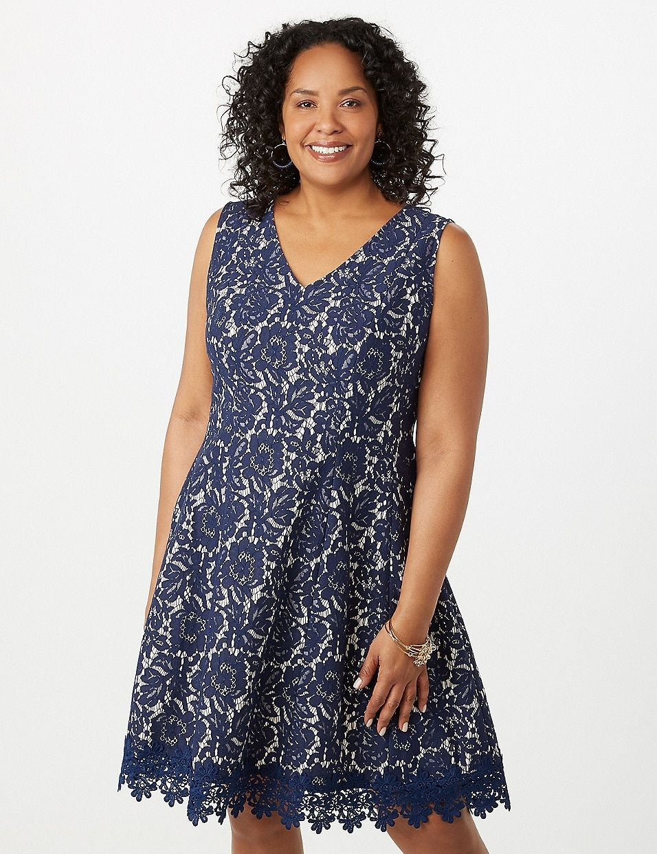 Plus Size Lace CrochetHem Dress dressbarn Plus size