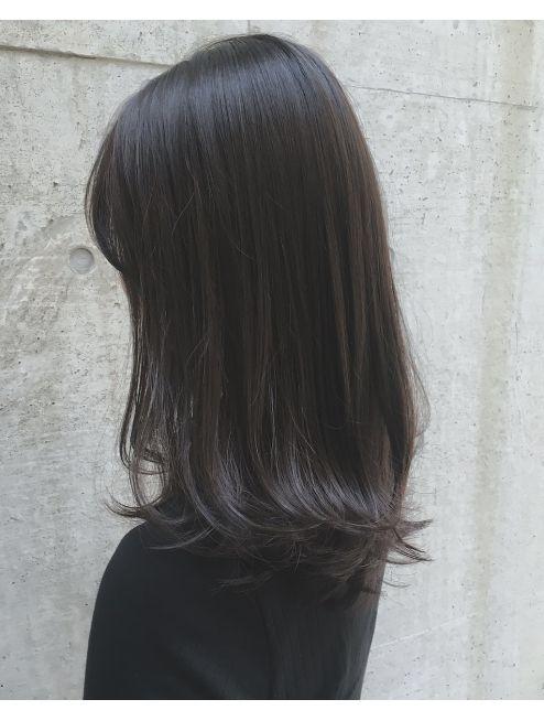 アクア アオヤマ Acqua Aoyama 黒髪風プラチナブルージュ大人かわいい