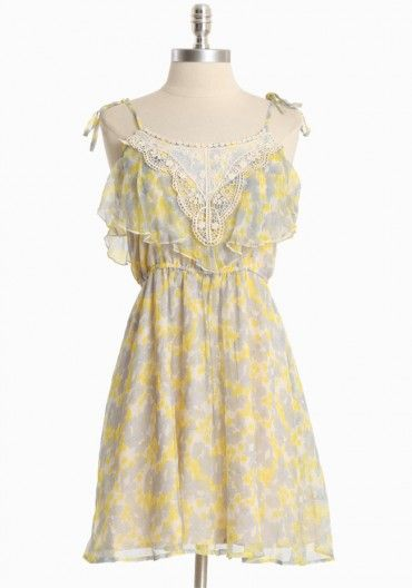 Perpetual Astonishment Floral Dress by Ruche $57 >> THIS is SO CUTE! Love the colors and the top is so whimsical and beautiful!