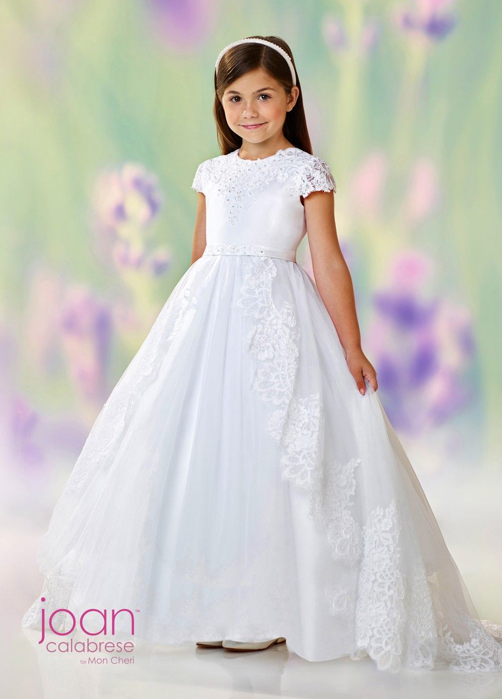 cf8fb16178c Joan Calabrese 118330 First Communion Dress with Detachable Overskirt