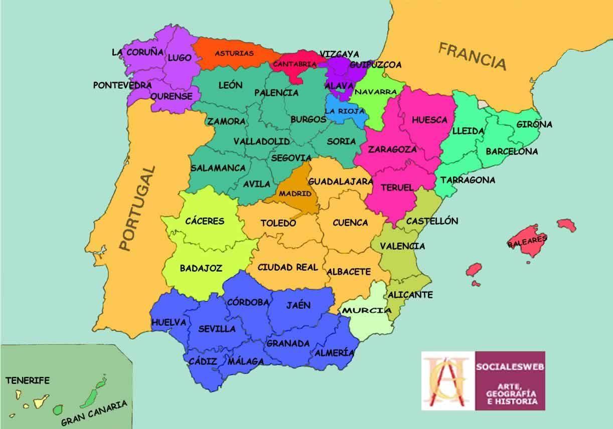 Carte Espagne Recherche Google Espagne Carte Espagne Geographie