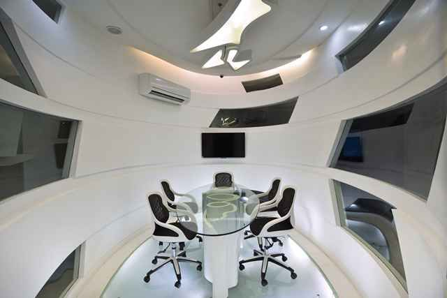 office conference room designed by kapil aggarwal interior designer