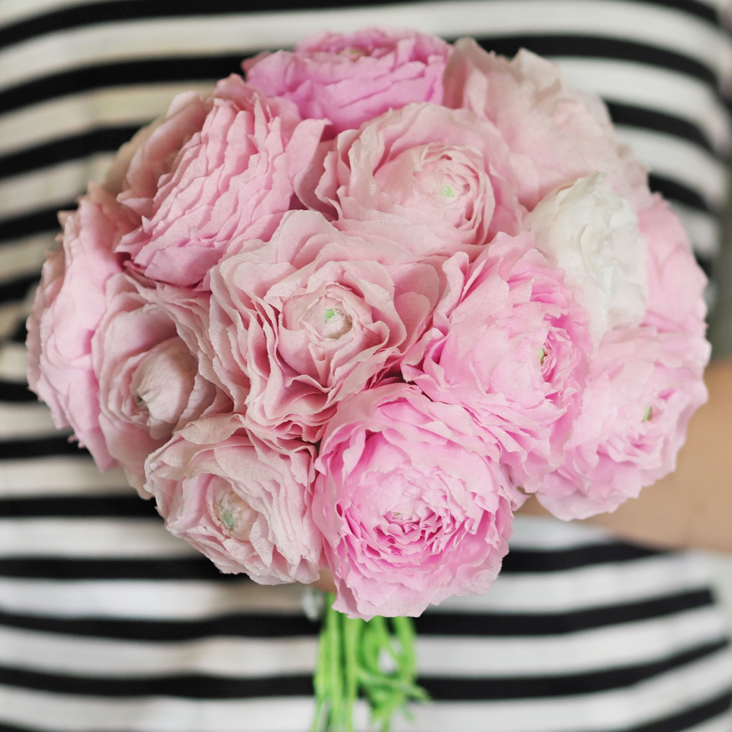 DIY | tissue paper ranunculus flowers