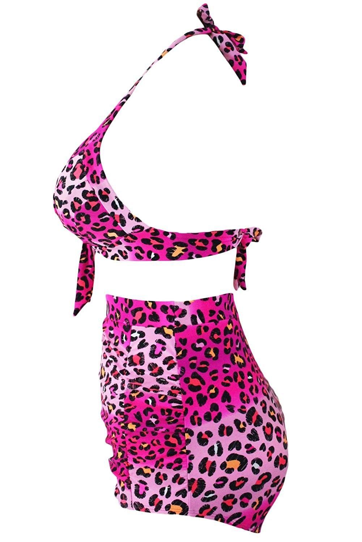 c79378a489 Pyramid Top Women s Plus Size Retro High Waist Printed Floral Bikini ...