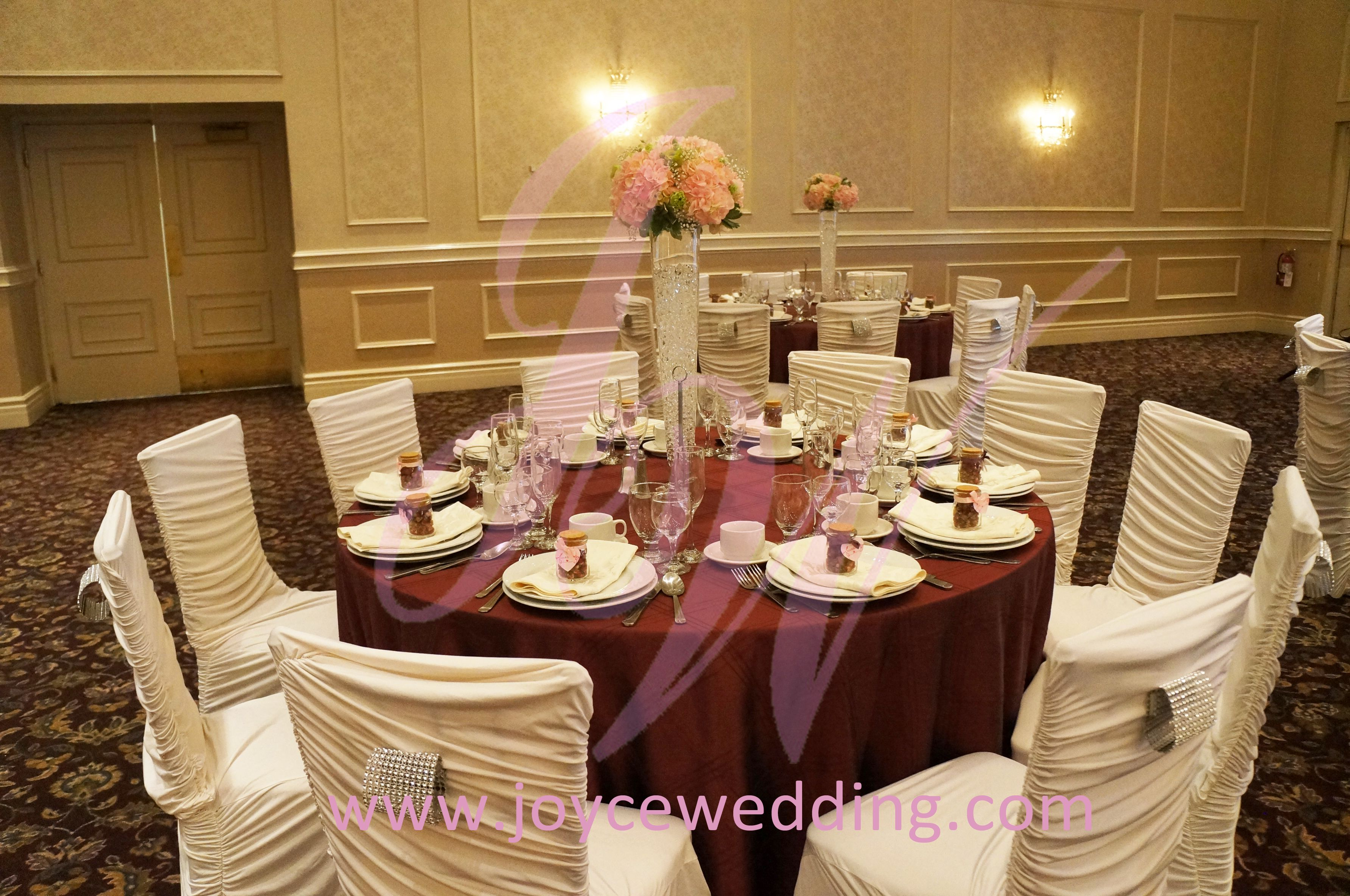 burgundy chair covers wedding rubber tips for chairs pink red and white decoration weddings