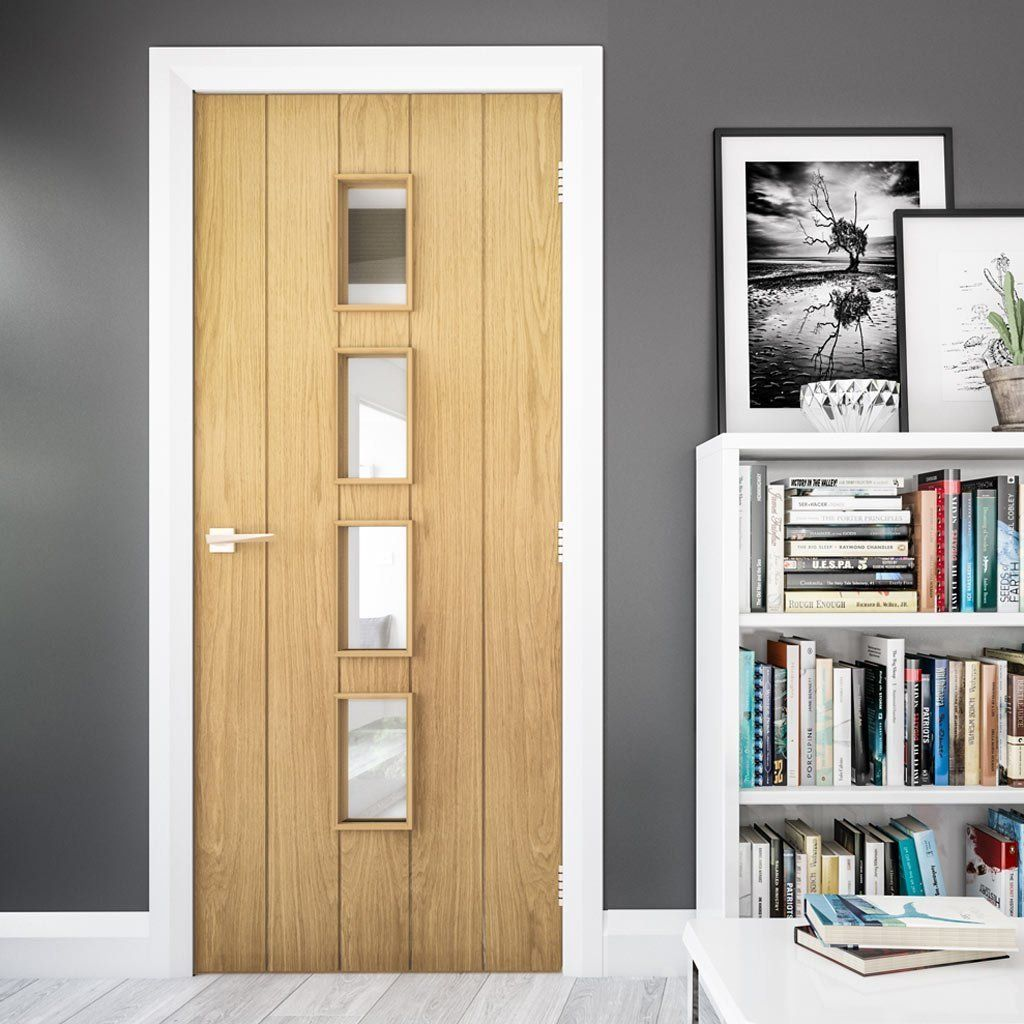 Galway Oak Fire Door Clear Glass 1 2 Hour Fire Rated Unfinished Fire Doors Fire Doors Internal Oak Fire Doors