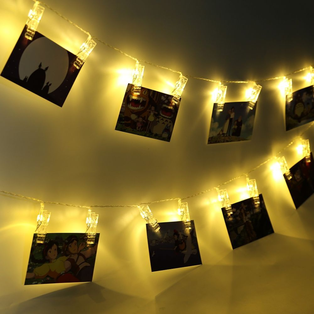 Card Photo Clip String Lights Fairy Lighting Lamp Designs Home ...