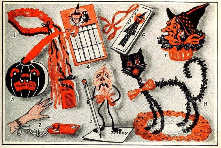 Vintage Dennison Halloween Decorating tips Halloween club - halloween club decorations