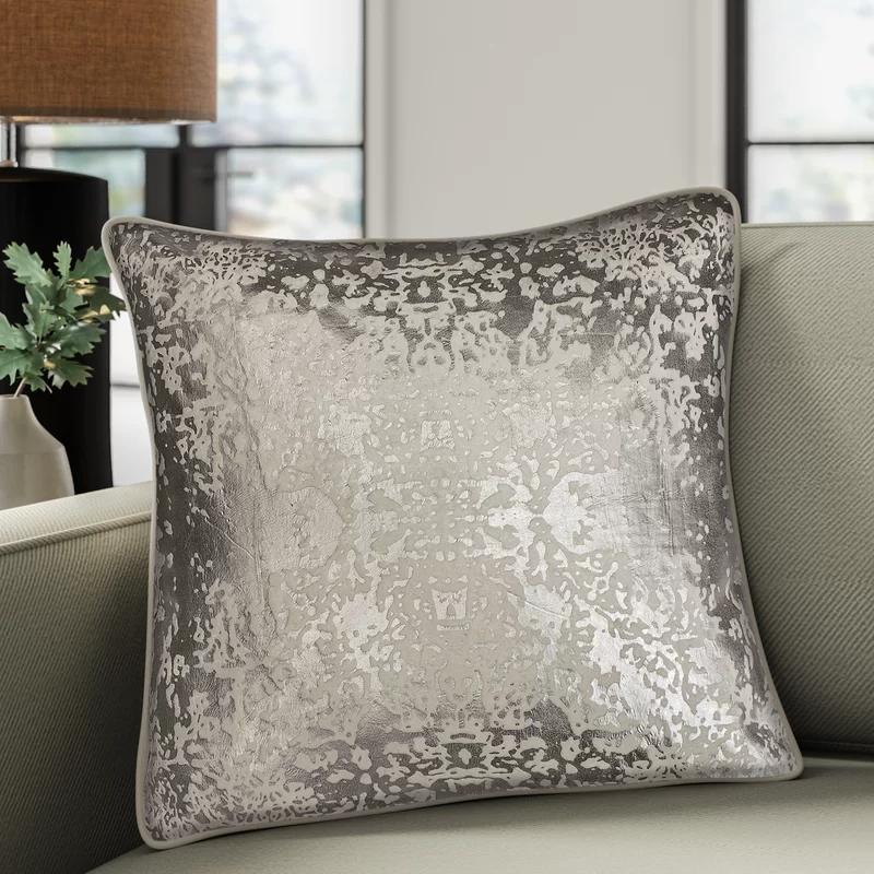 Craigsville Damask Throw Pillow Throw Pillows Metallic Throw Pillow Elegant Throw Pillows