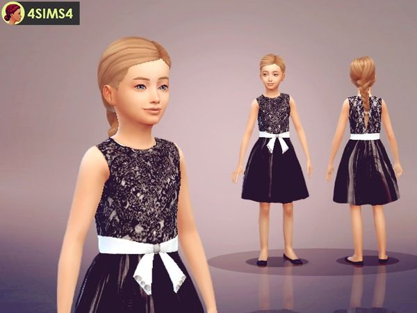 The Sims Resource: Lace Dress by Pafmelap • Sims 4 Downloads