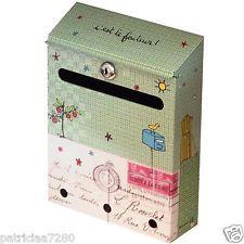 Boite aux lettres originale en acier deco jardin dlp derriere la porte neuf mailboxes etc - Aux porte de la deco ...