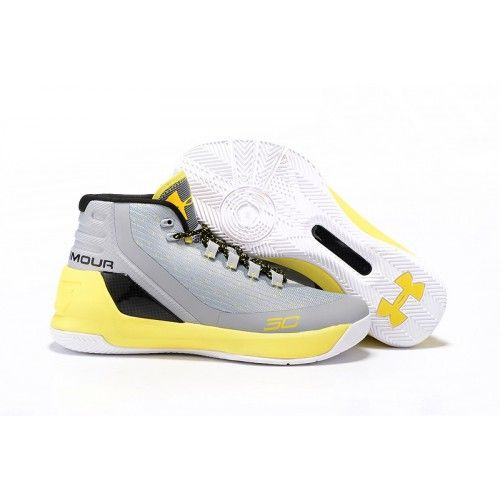 1780d7742a03 Under Armour Micro G Torch 3 Basketball Shoes White Light Grey Yellow - Stephen  Curry Shoes Outlet Under Armour Sneakers Sale UA Stores