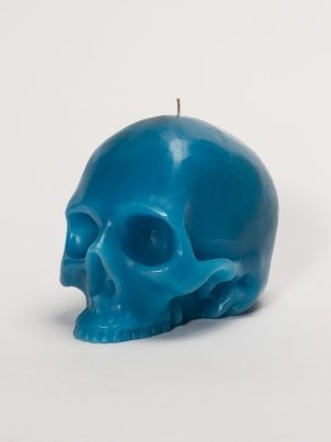 Giant Blue Skull Candle by D.L. & Co. - ShopKitson.com