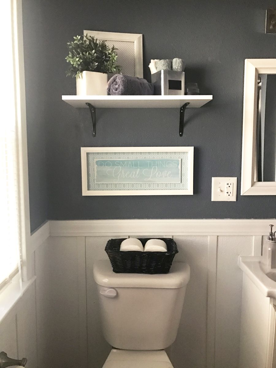 Goodbye pine cabinets grey bathrooms batten and neutral for Bathroom decor pinterest