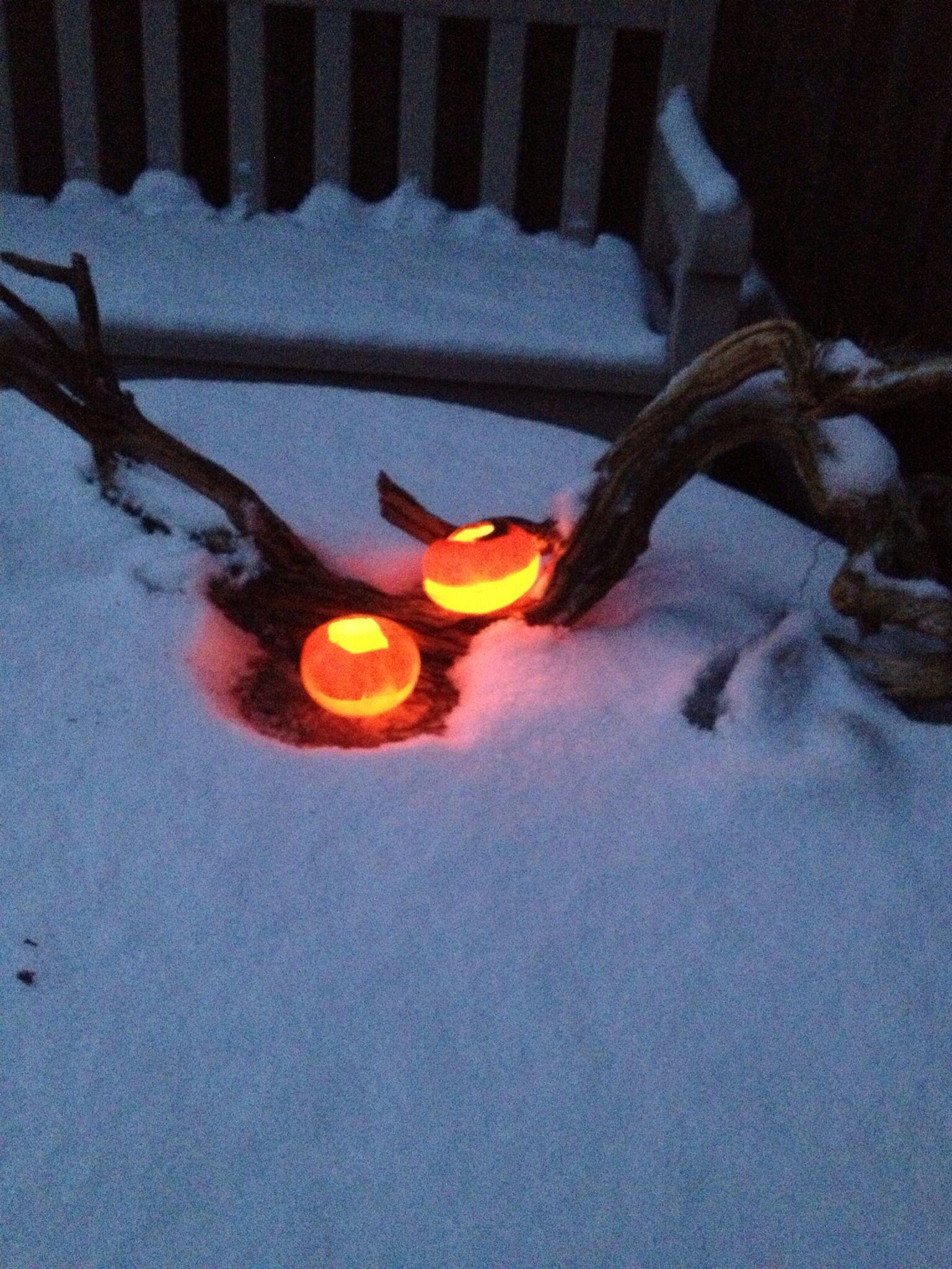 How to Make Oil Lights in a Mandarin  Peel