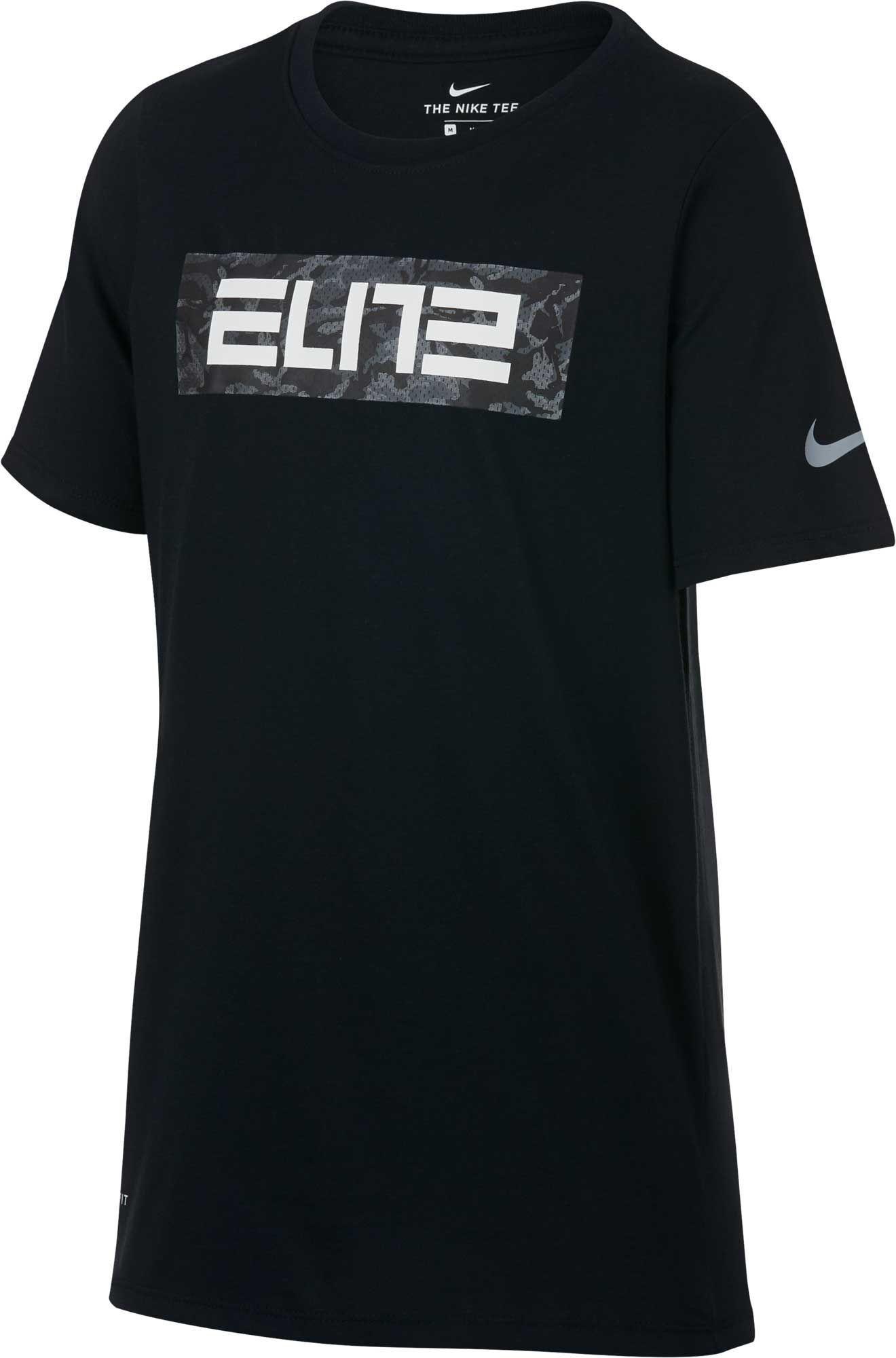 Nike Boys' Dry Elite Graphic TShirt Sports shirts, Nike