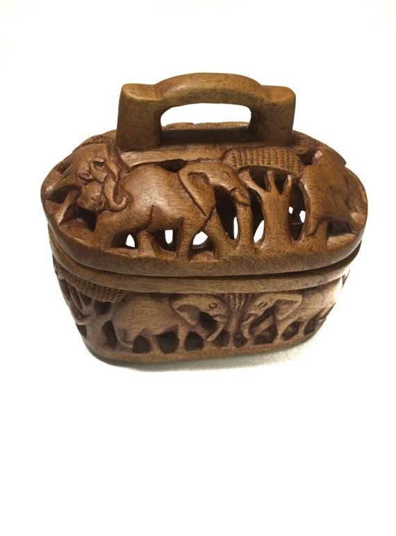 Vintage Carved Wood African Safari Bread by VintageFunkHouser