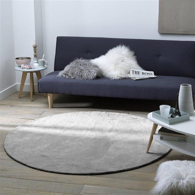 tapis rond coton tuft renzo la redoute interieurs 62 99 en 120cm 97 99 en 160cm lights. Black Bedroom Furniture Sets. Home Design Ideas
